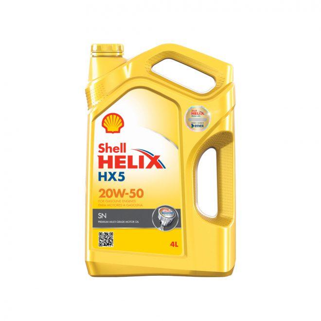 Helix HX5 20W50 4L. Bencina H/5000Km